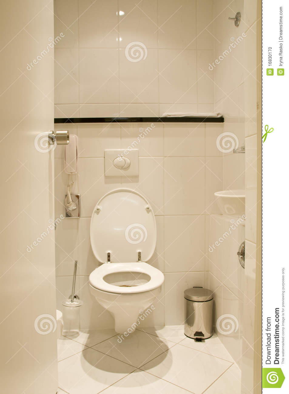 Toilet Room Designs: Toilet Room Stock Photo. Image Of Indoors, House, Domestic