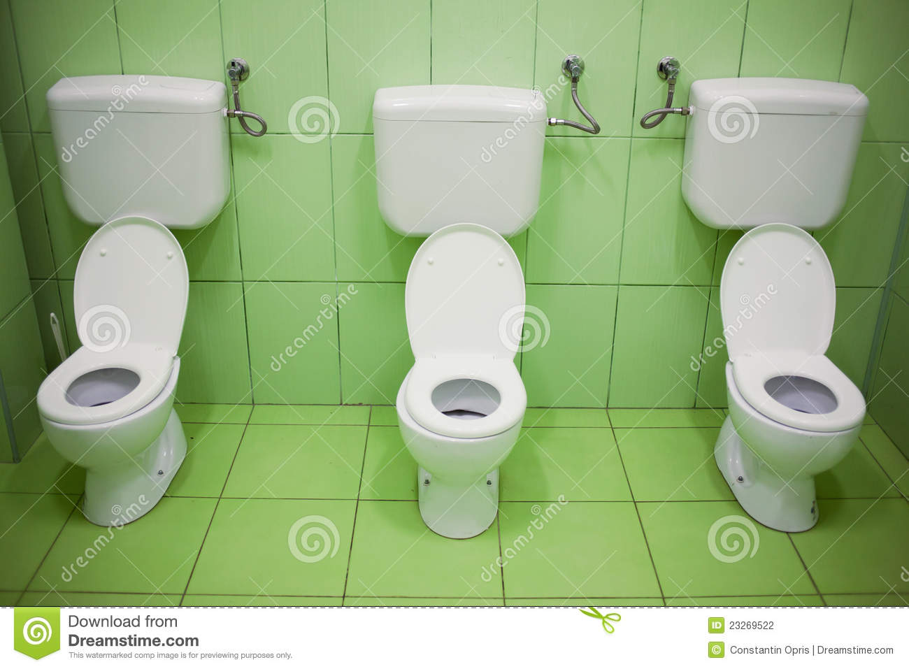 Nature bathroom design - Toilet Seats In Kindergarten Stock Photography Image