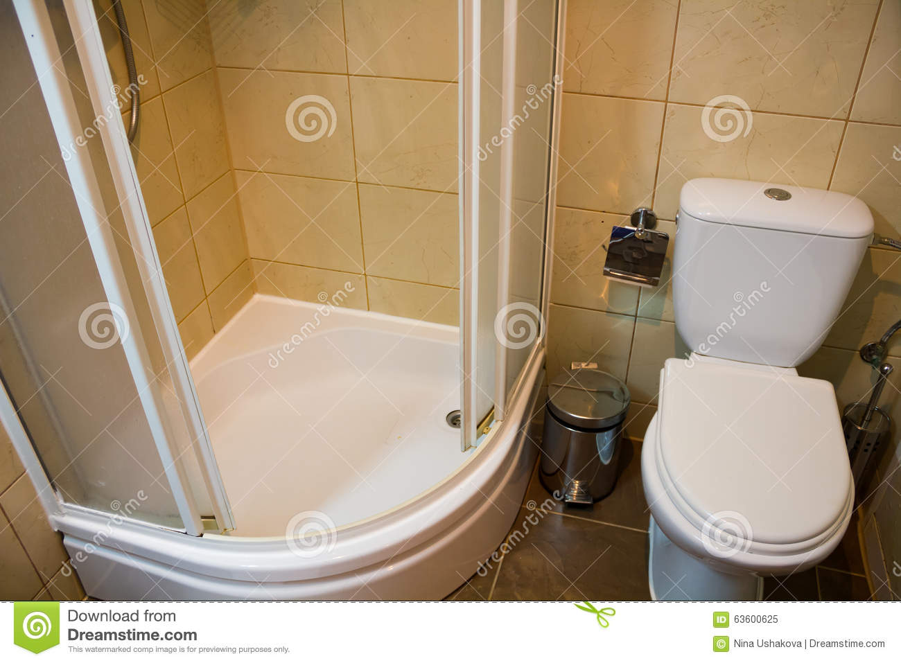 Download The Toilet And Shower Stock Image. Image Of Glass, Inside    63600625