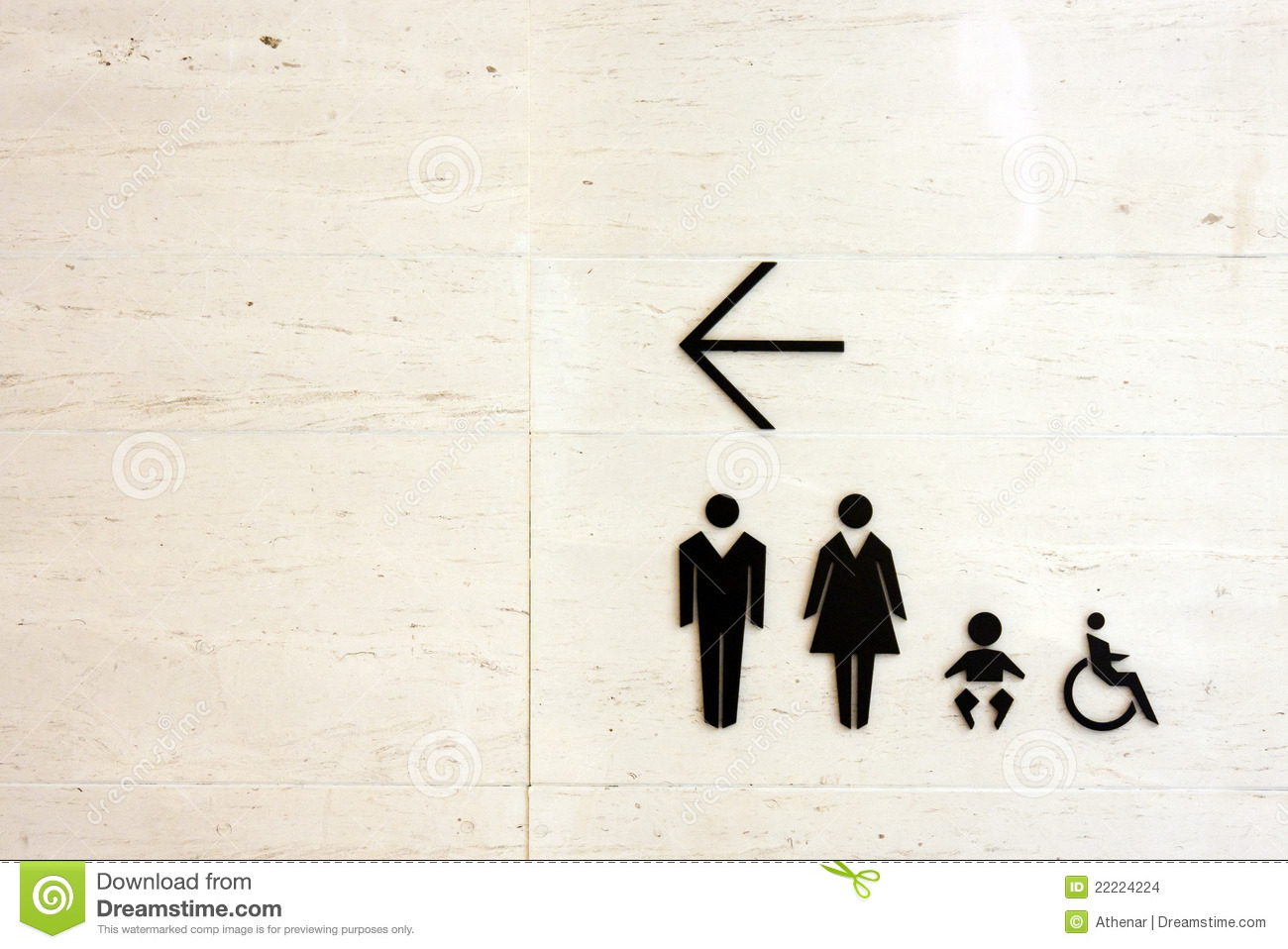 Toilet Sign For Male Female Baby And People With Disabilities Stock Images