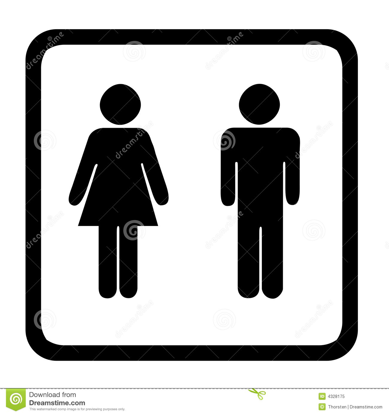 Toilet Sign Royalty Free Stock Photo Image 4328175