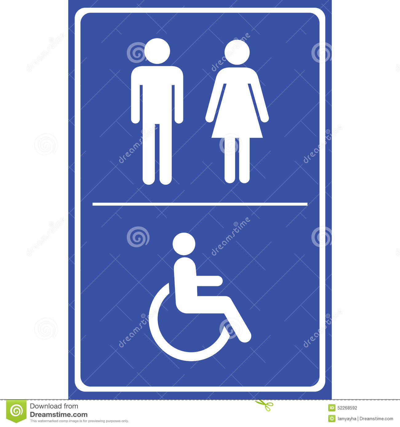 toilet sign with blue background man sign women sign handicap sign eps10