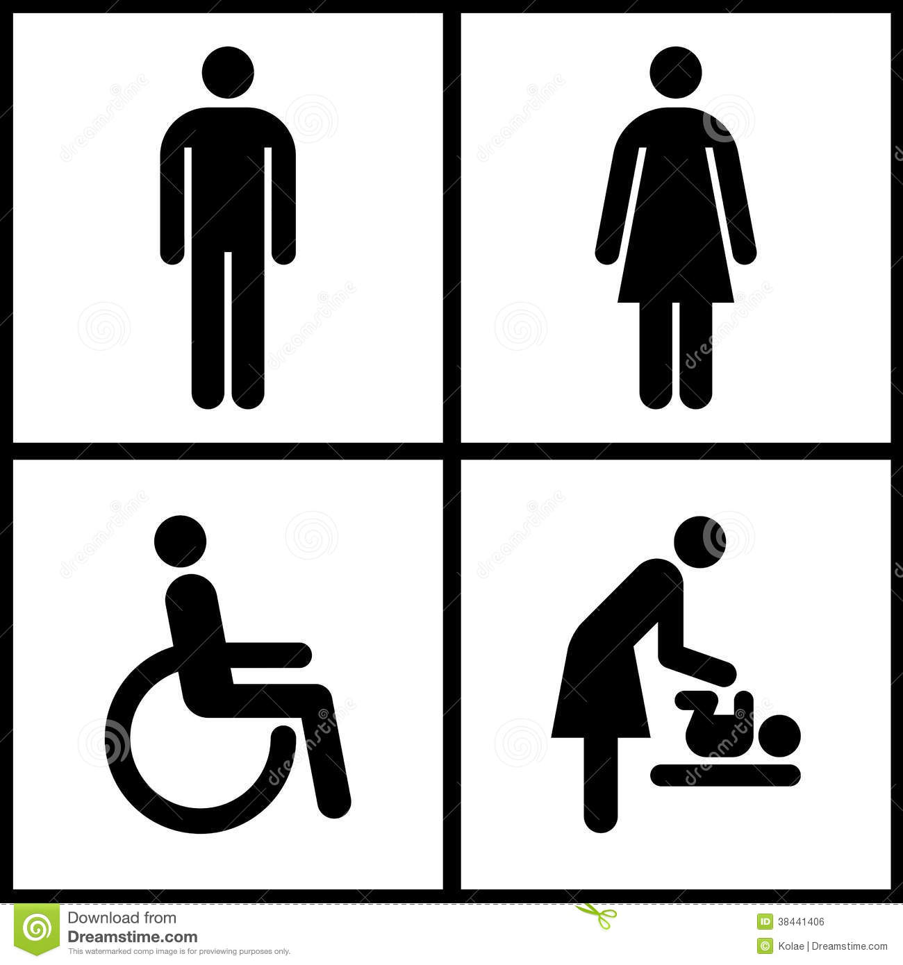Toilet Sign Restroom Mother Room And Disabled Sign