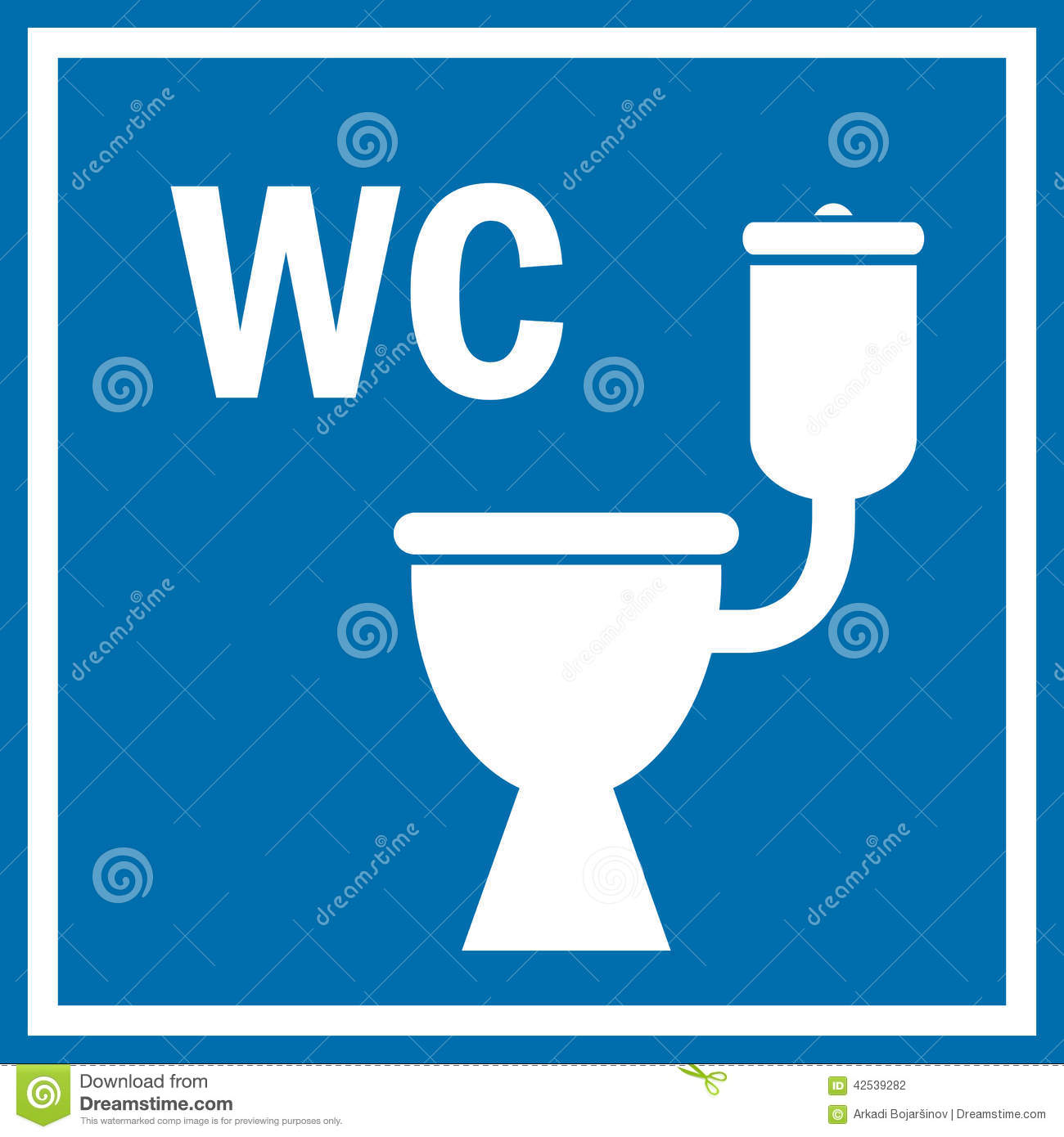 Toilet Sign Stock Vector - Image: 42539282