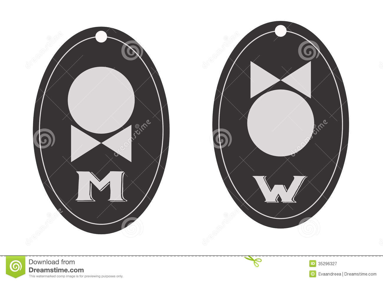 Bathroom Signs Vector man and woman toilet sign, restroom symbol stock vector - image
