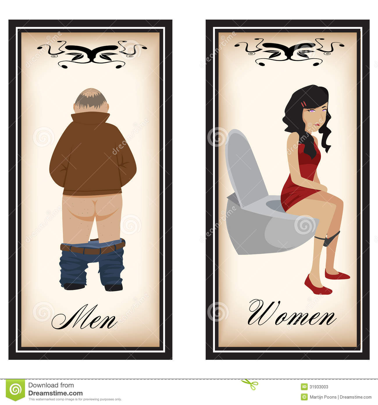 Toilet signs. Toilet Signs Stock Photos   Image  31933003