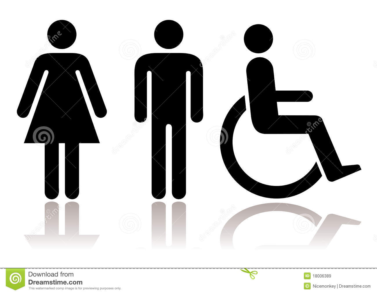 Toilet Symbols Disabled Royalty Free Stock Images - Image: 18006389