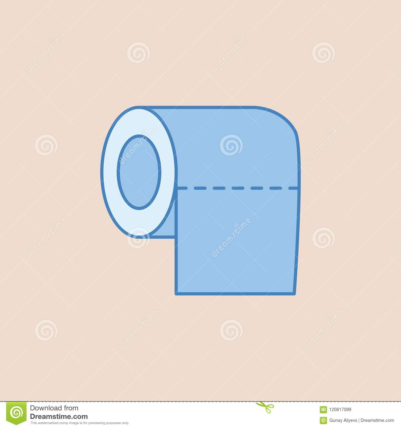 Toilet Tissue Paper Roll Icon. Element Of Bathroom For Mobile ...
