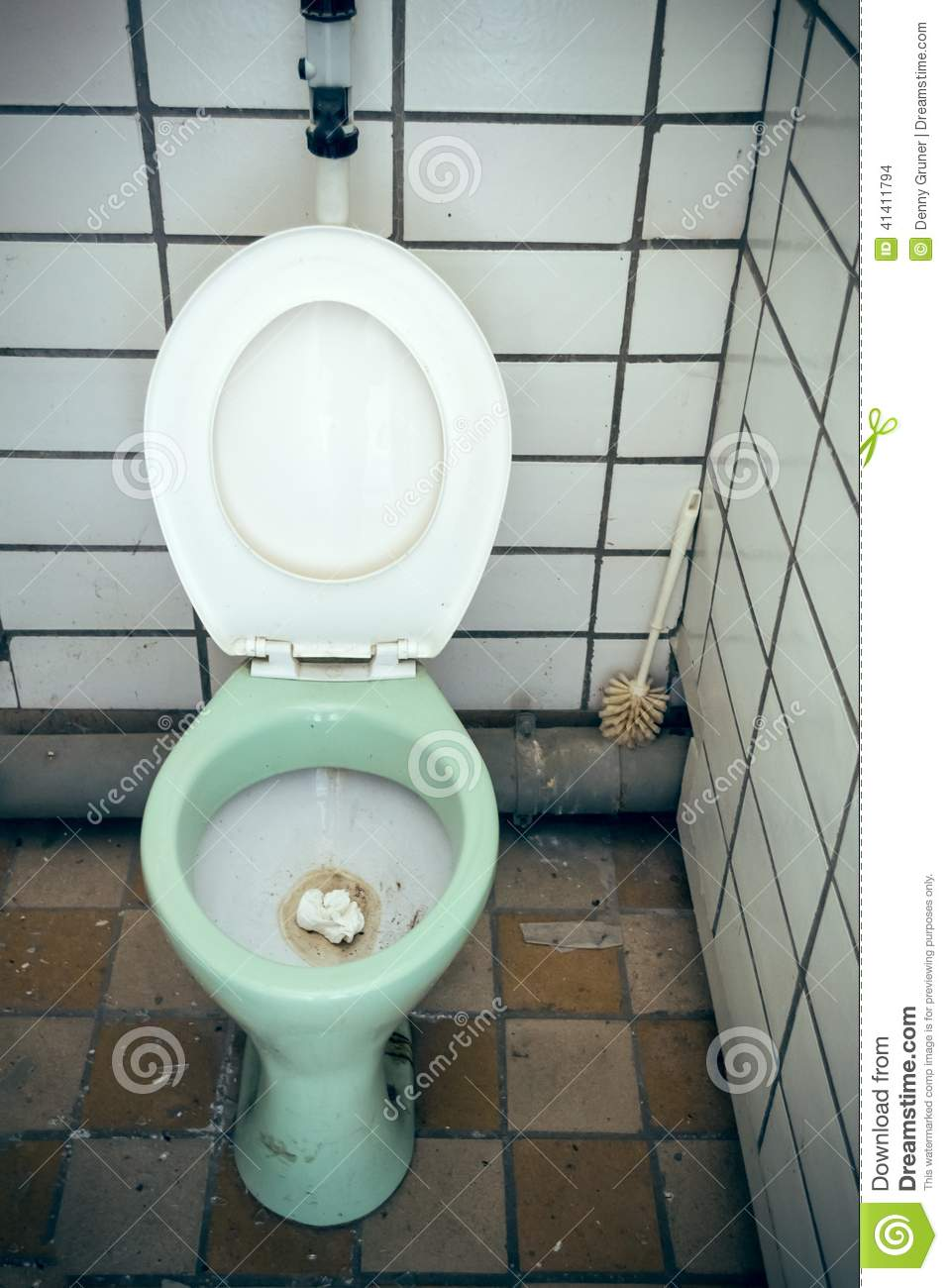 Toilet With Toilet Seat Open Stock Photo Image 41411794