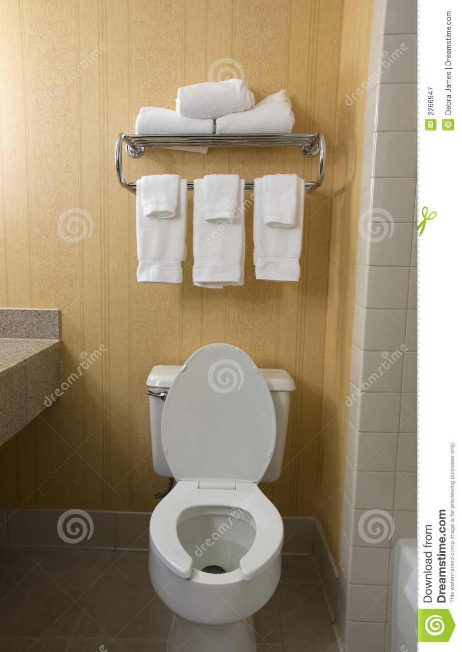 Toilet And Towel Rack Royalty Free Stock Photography ...