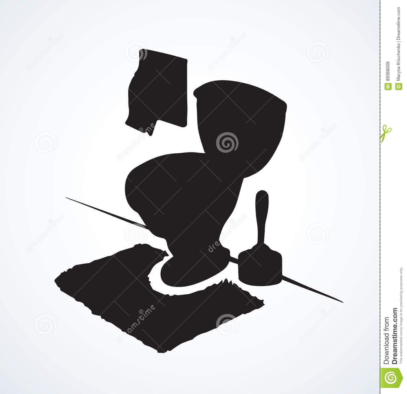 Toilet. Vector Drawing Stock Vector. Image Of Closeup