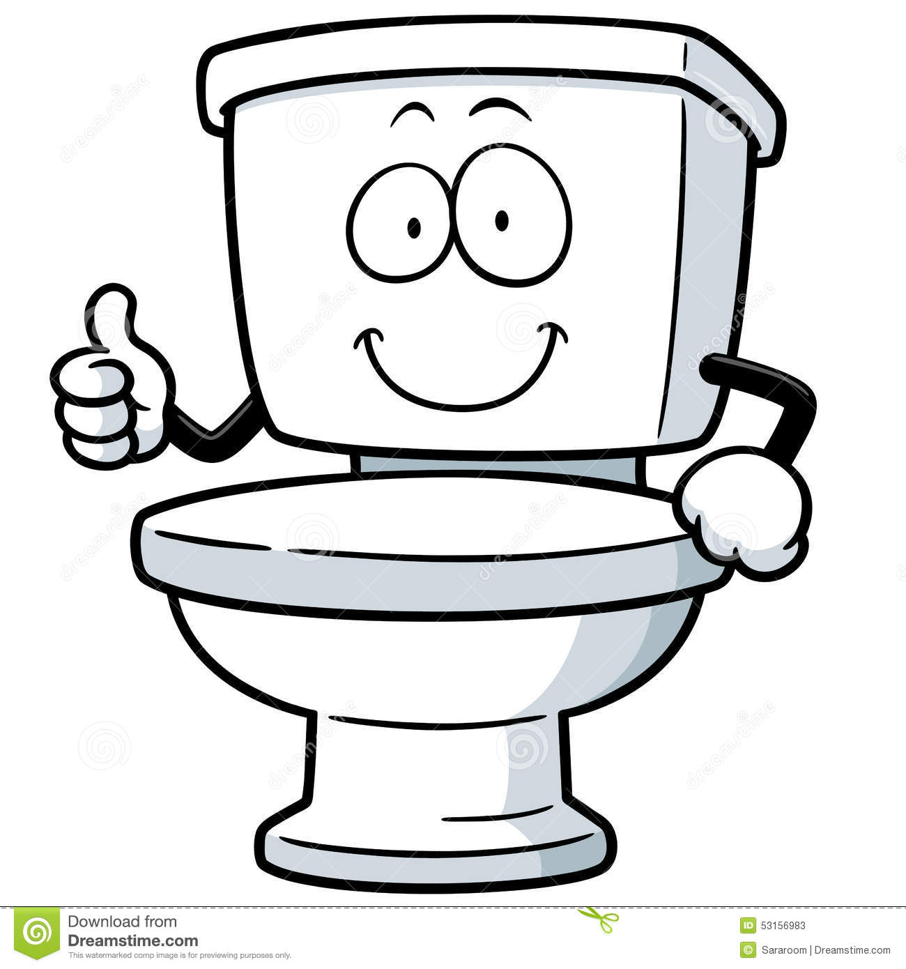 Cartoon Pictures Of Bathrooms: Toilet Stock Vector. Illustration Of Holding, Isolated