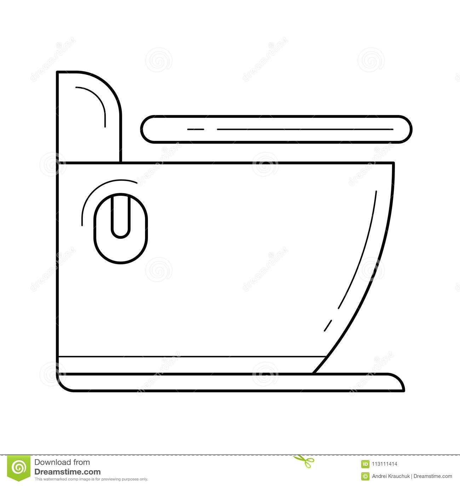 Toilet line icon. stock vector. Illustration of minimal - 113111414