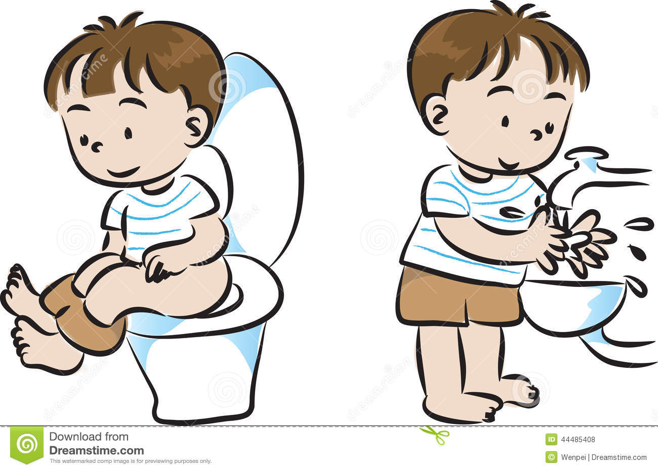 Toilet And Wash Stock Illustration - Image: 44485408