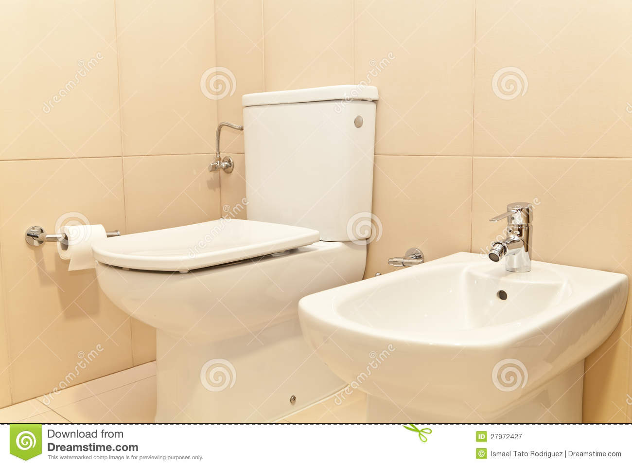 toilet wc and bidet stock image image of contemporary 27972427. Black Bedroom Furniture Sets. Home Design Ideas
