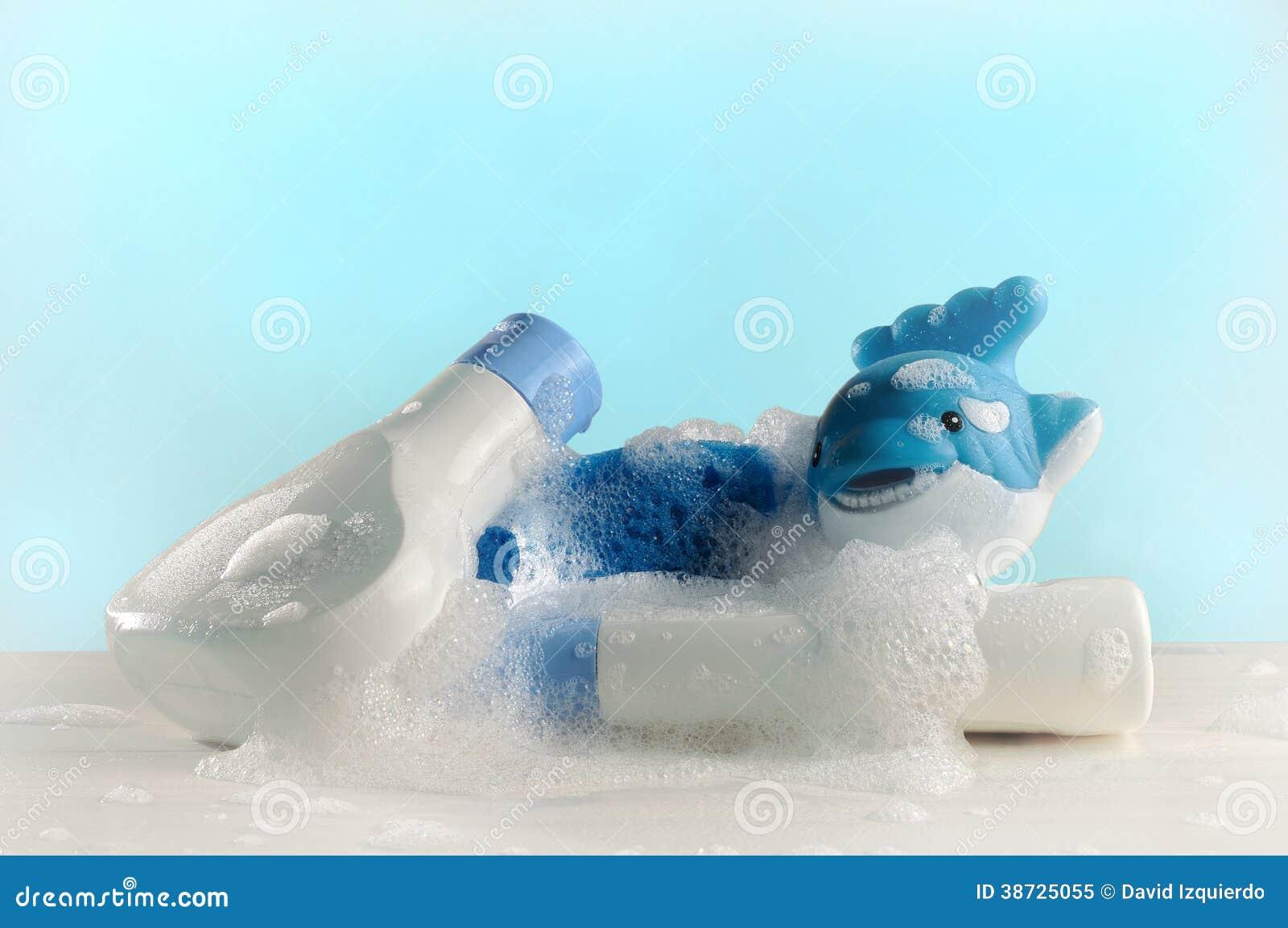 Toiletries dziecko z mydłem i wodą