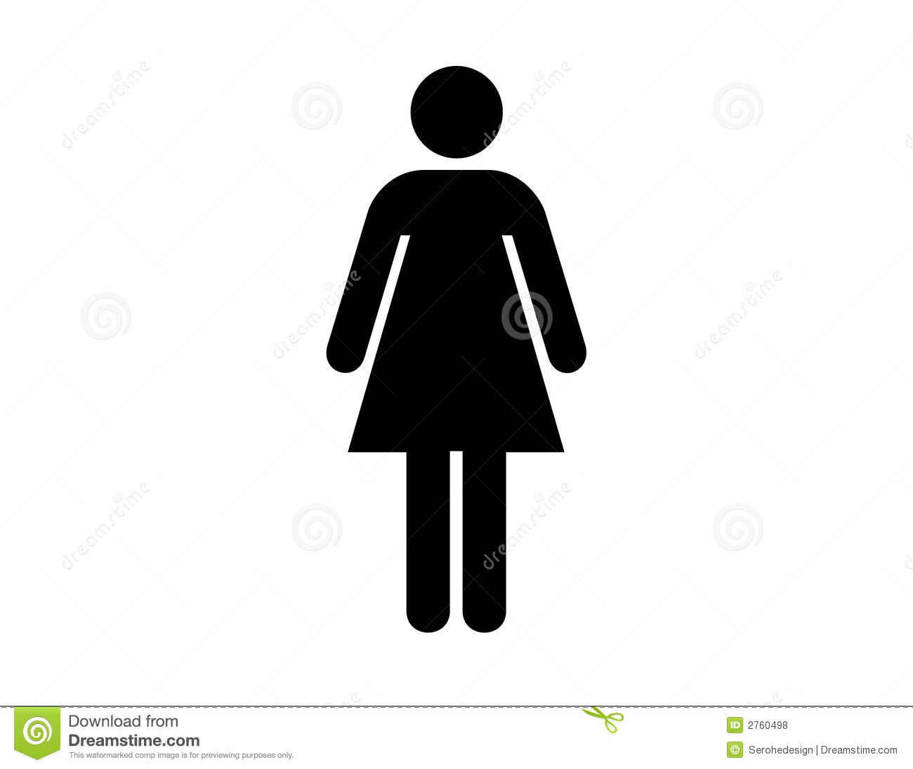 Toilets Women Stock Vector. Illustration Of Signal, Girl