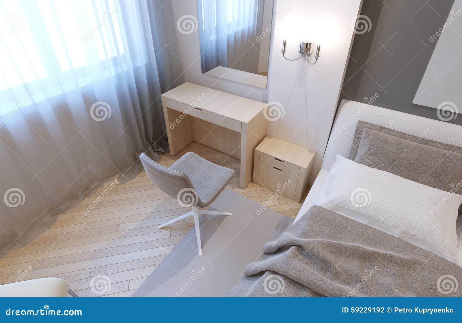 Toilettafel in slaapkamer stock illustratie illustratie bestaande