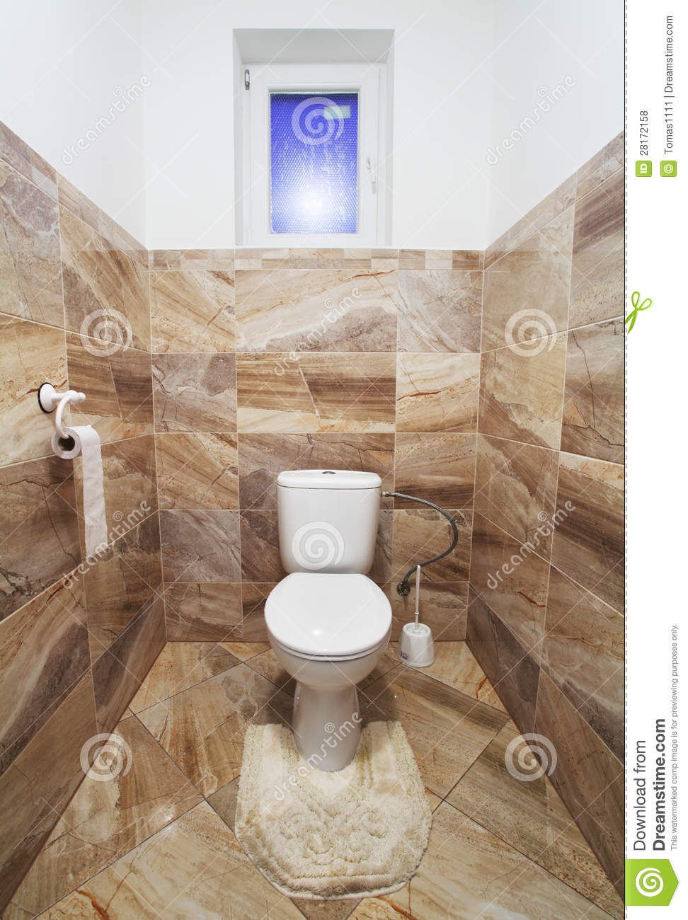 Toilette de luxe photo stock image du lumineux bain for Toilette seche interieur maison