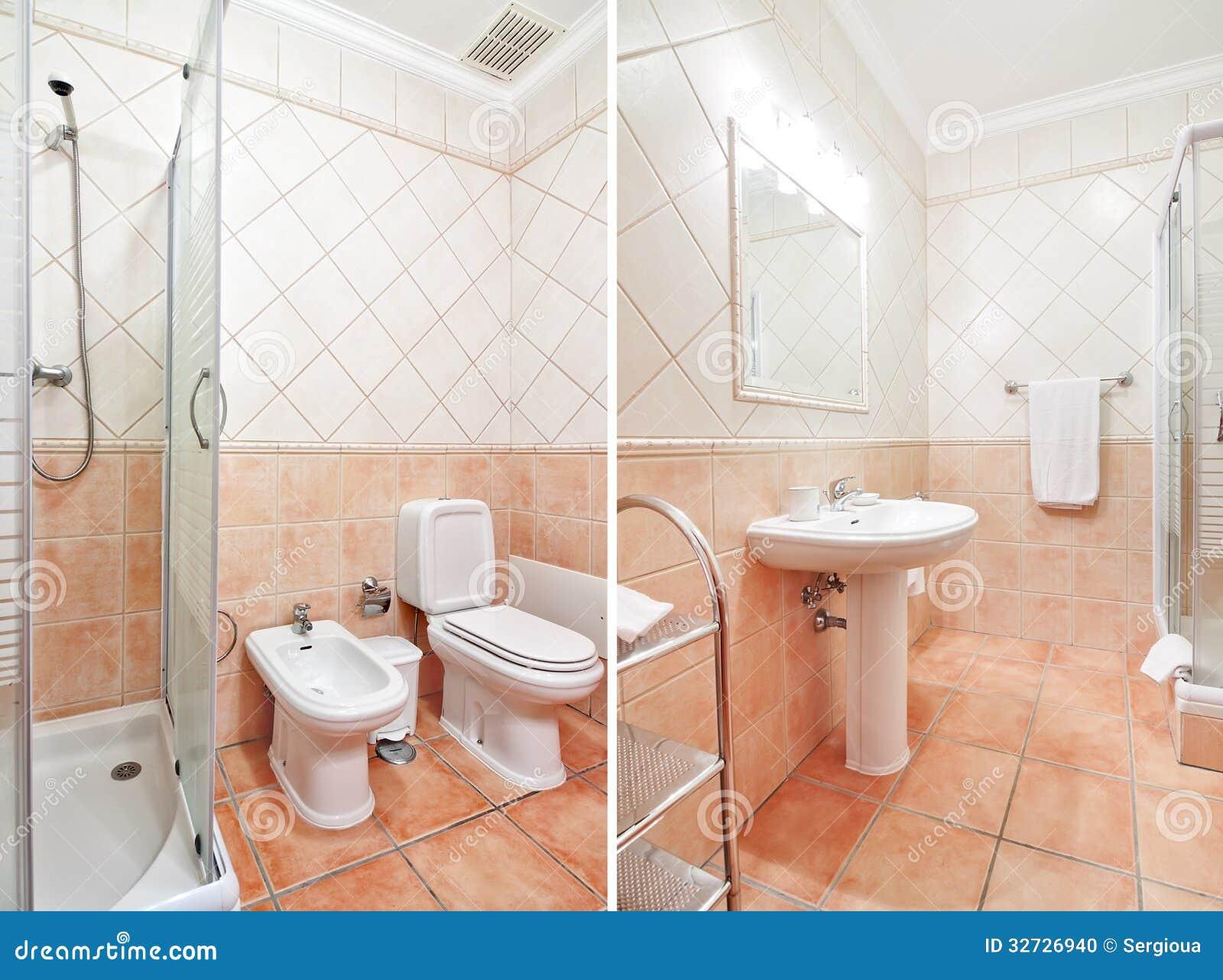 toilette de luxe confortable avec des couleurs chaudes photo stock image 32726940. Black Bedroom Furniture Sets. Home Design Ideas