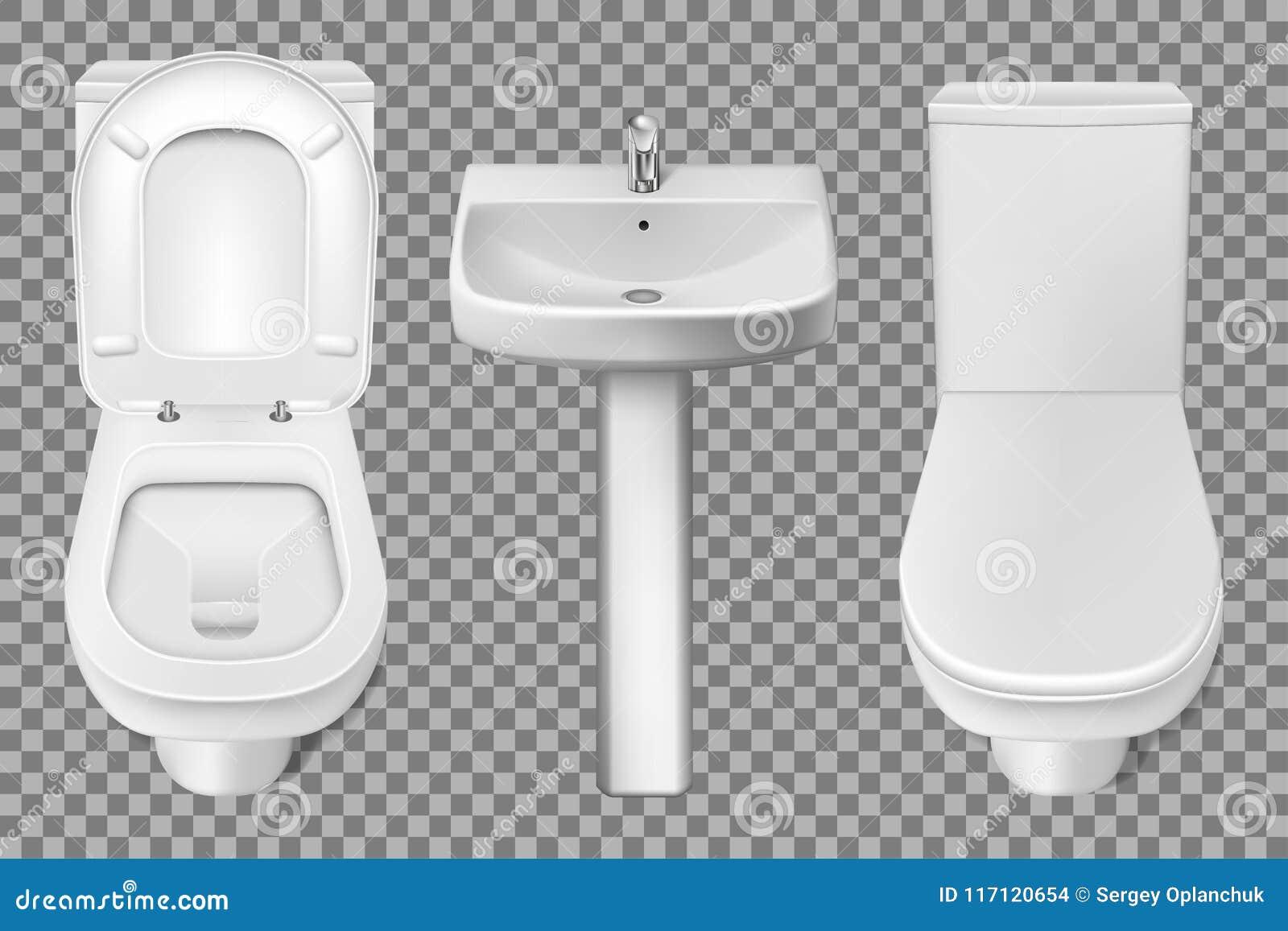 Plan De Toilette Salle De Bain toilette int�rieure de salle de bains et maquette r�aliste