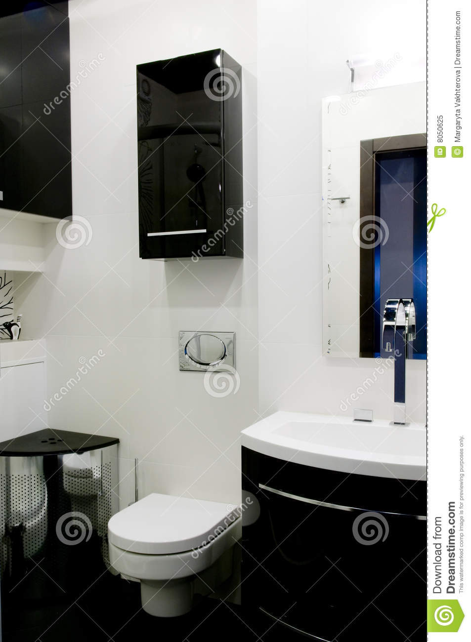 toilette moderne photo libre de droits image 8050625. Black Bedroom Furniture Sets. Home Design Ideas