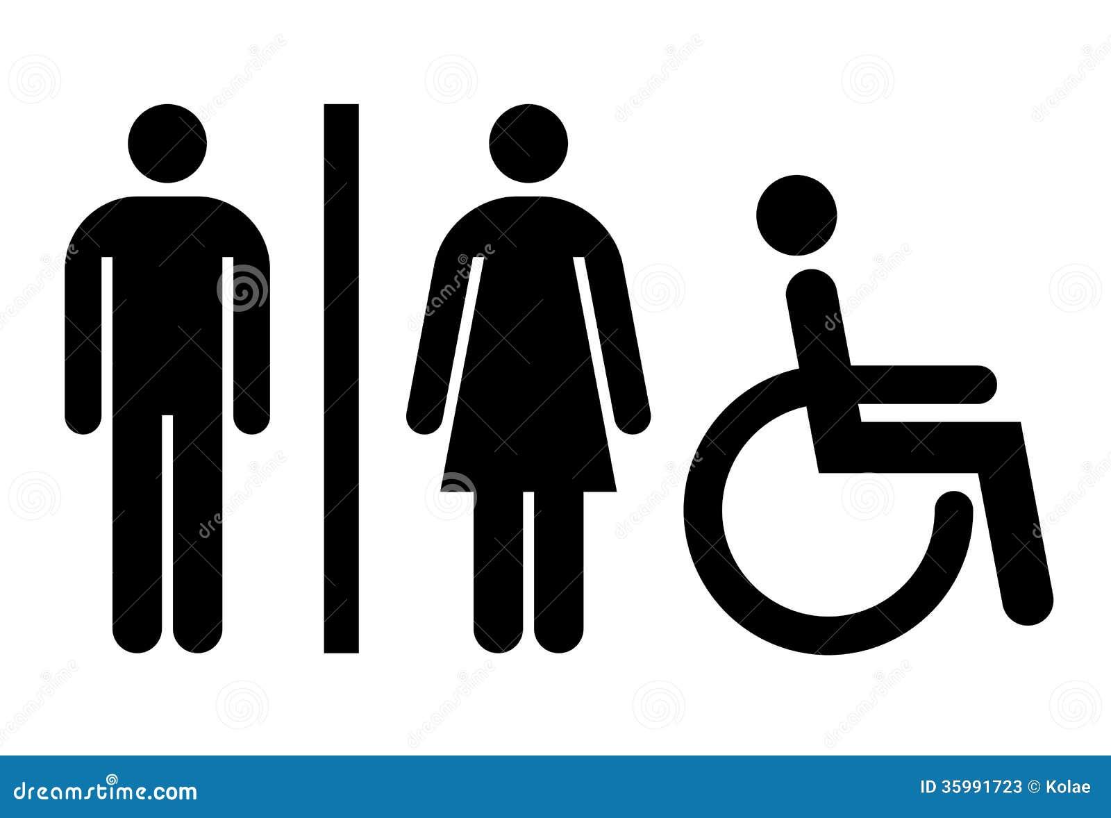 Toilette Wc Toilettenzeichen Stockfotos Bild 35991723