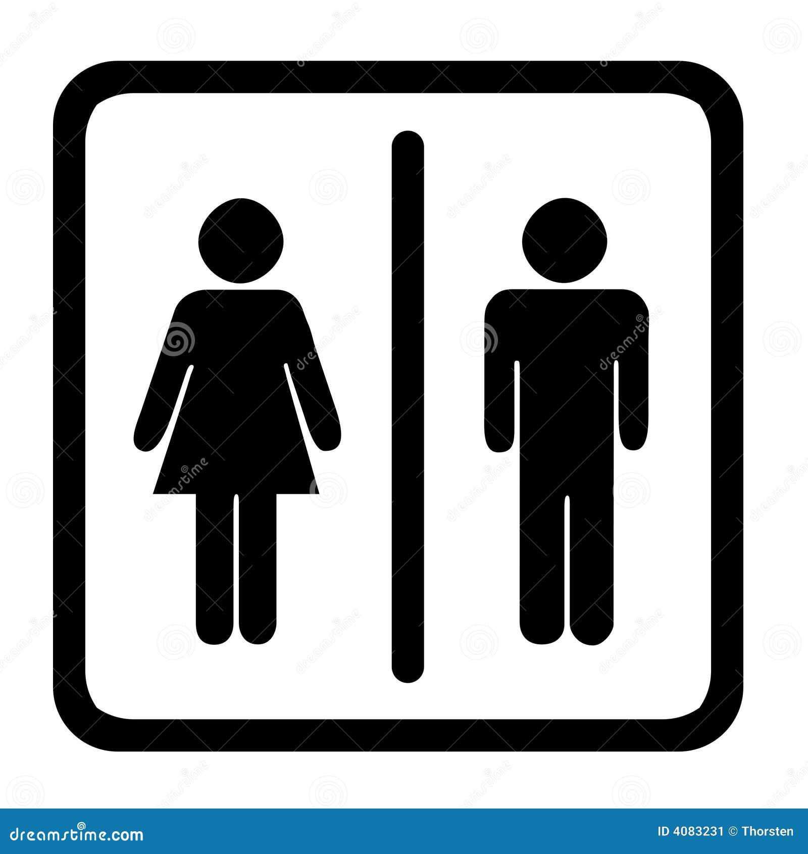 toiletten zeichen stock abbildung bild von waschraum 4083231. Black Bedroom Furniture Sets. Home Design Ideas