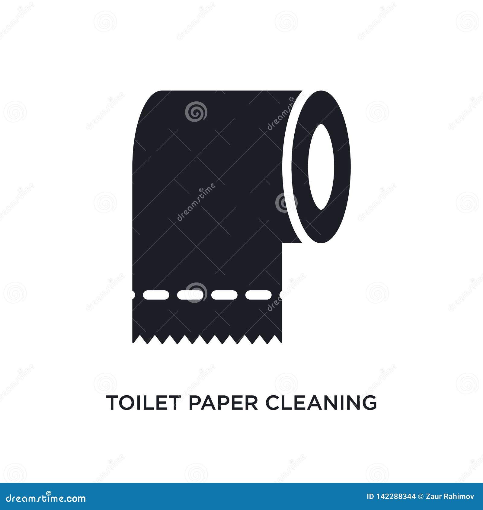Toilettenpapier, das lokalisierte Ikone säubert einfache Elementillustration von Reinigungskonzeptikonen Toilettenpapier, das edi