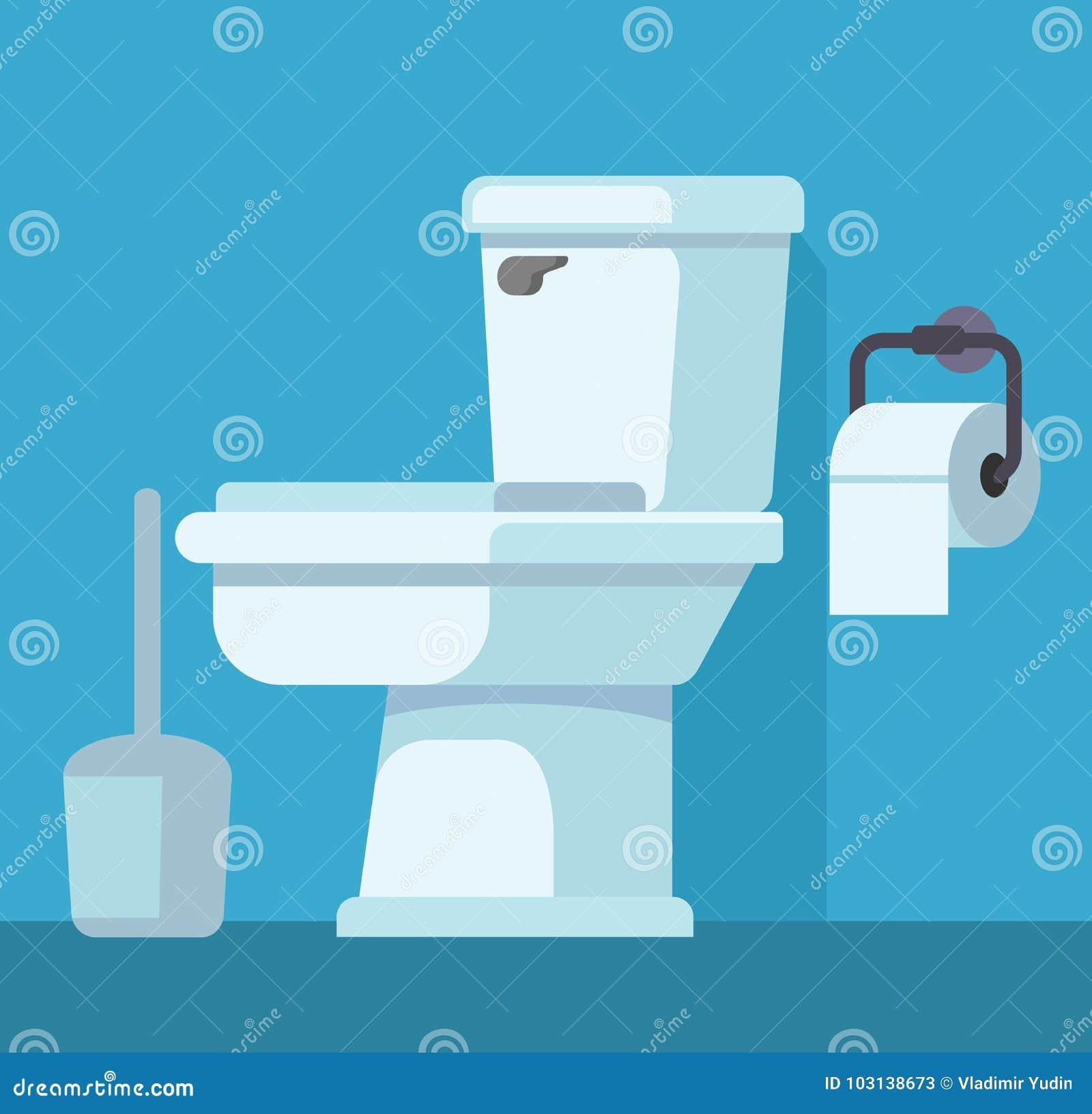 Toilettenschüssel und Toilettenpapier