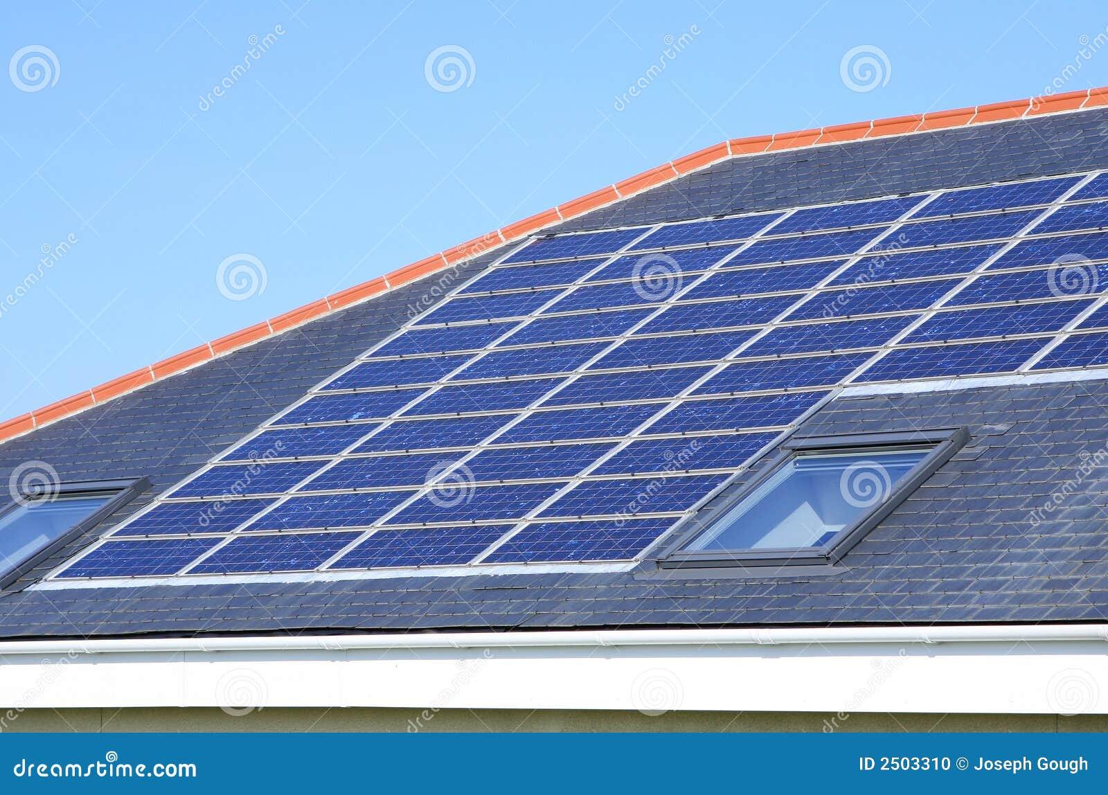 Toit de Chambre de panneaux solaires