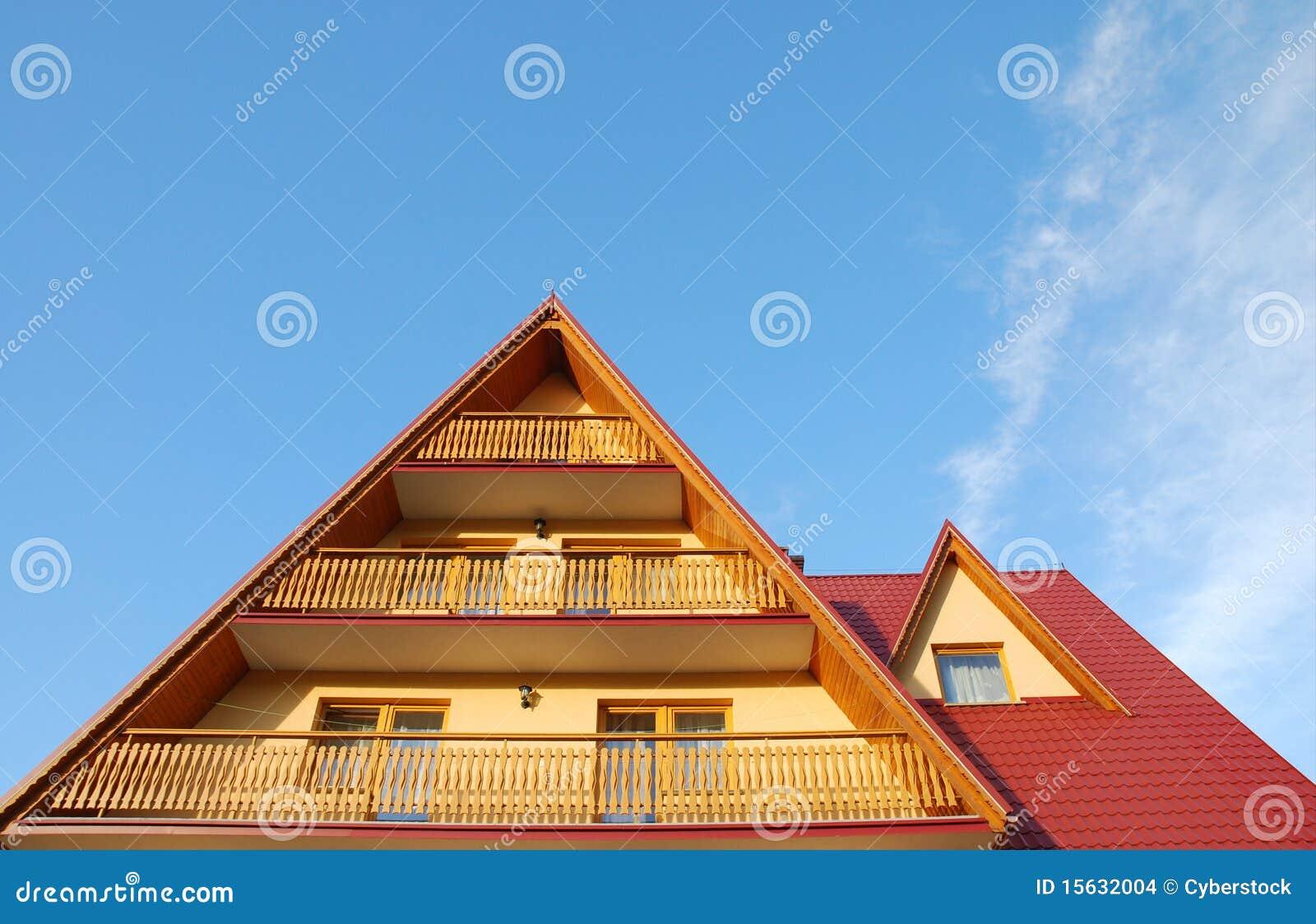 toit et balcon images stock image 15632004. Black Bedroom Furniture Sets. Home Design Ideas