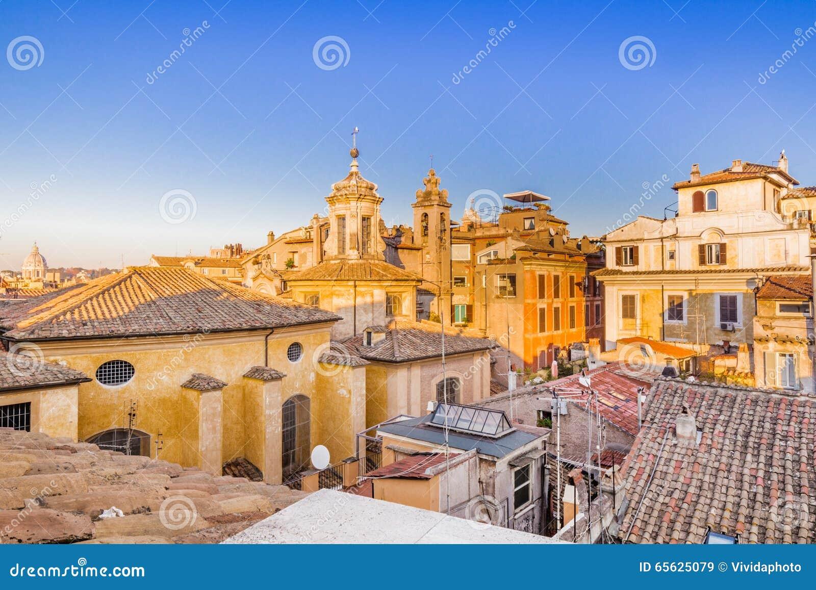 Toits antiques de Rome