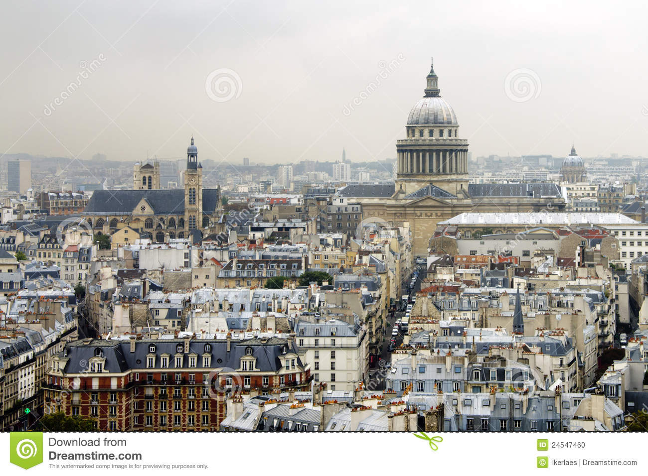 Toits de paris avec le panth on photo stock image 24547460 - Les toits de boulogne ...