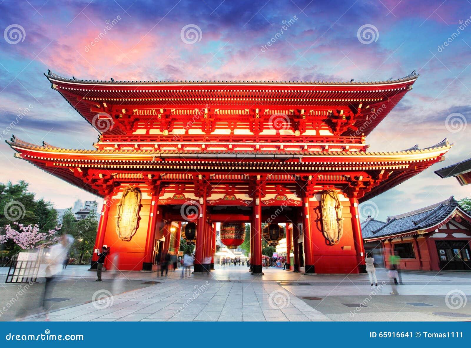Tokio, Japonia -, Asakusa świątynia