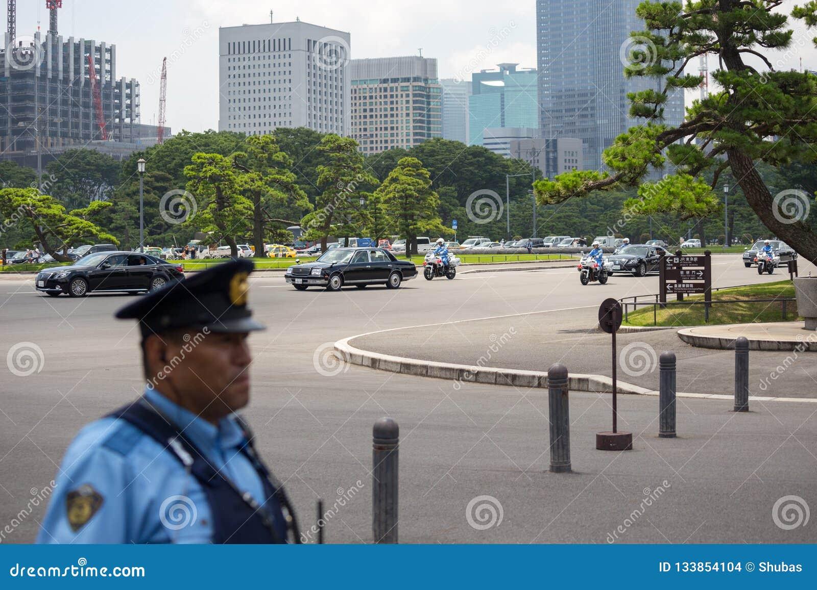 Tokio Japonia, Lipiec, - 12, 2017: Cesarz Japonia Akihito Michiko i imperatorowa