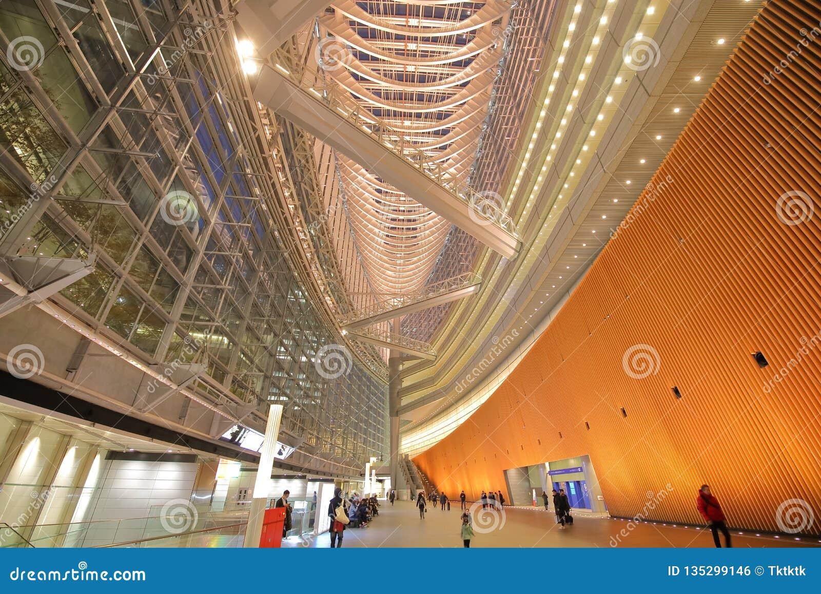Tokio międzynarodowego forum nowożytna architektura buduje Japonia