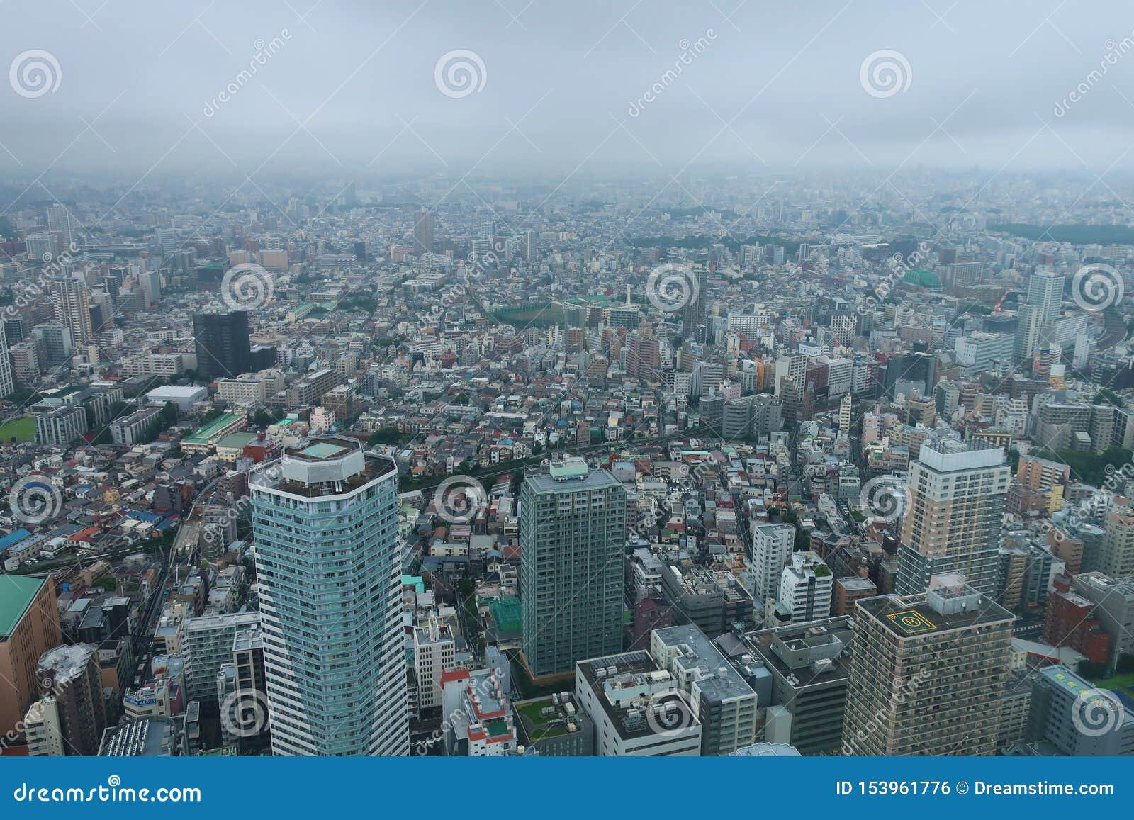 Tokio miasto od nieba