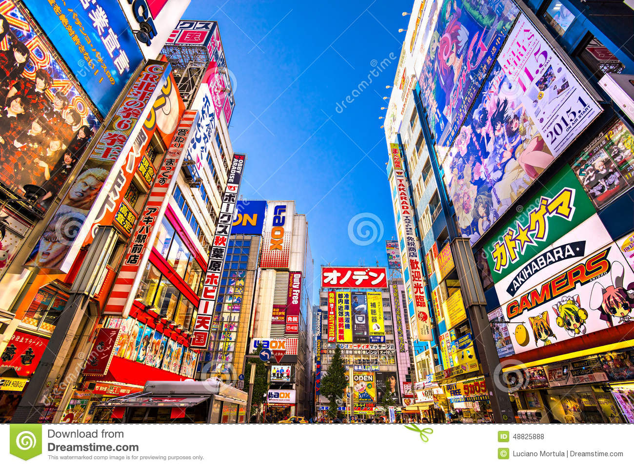 ... shopping area for electronic, computer, anime, games and otaku goods