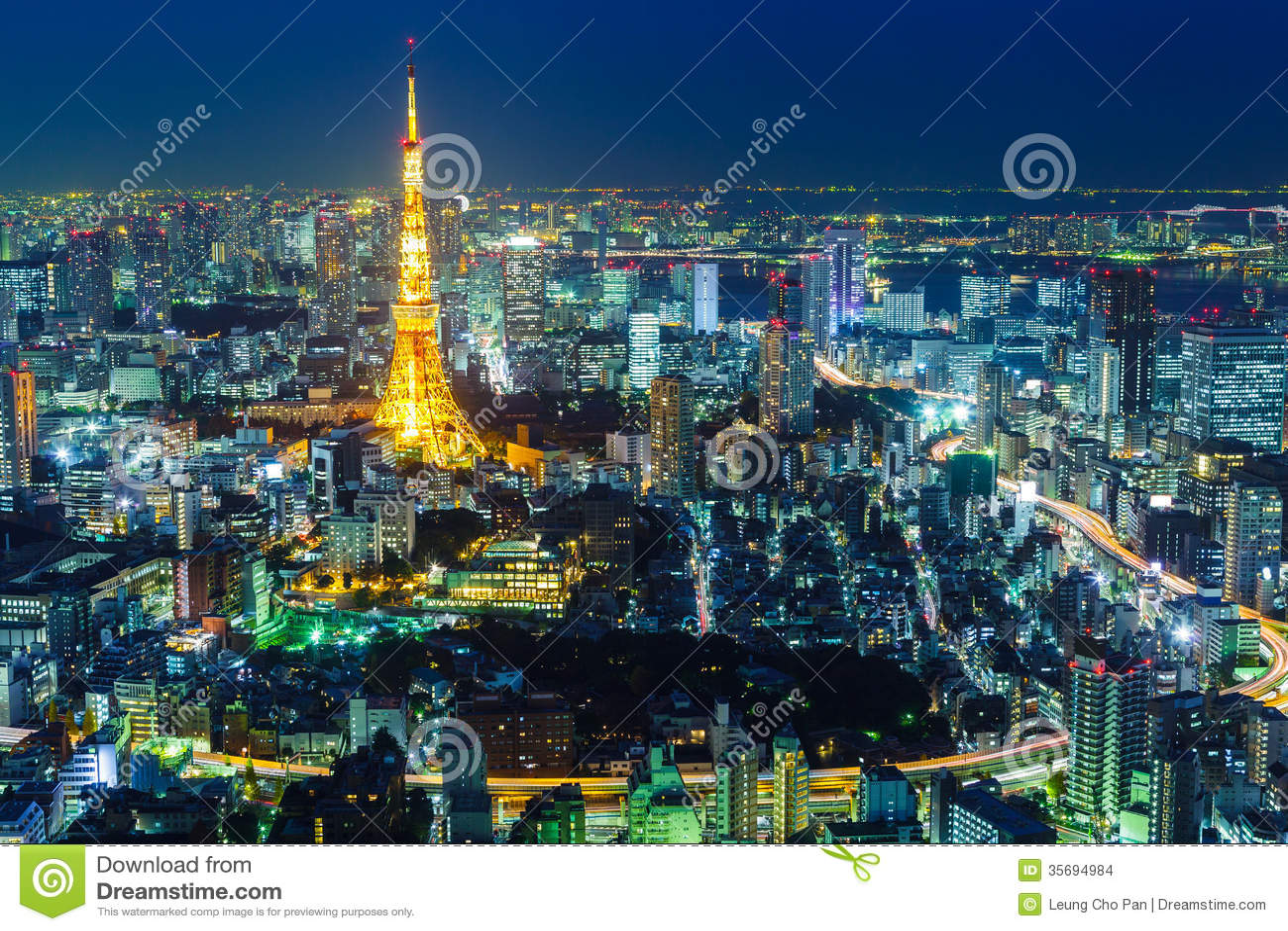 tokyo dark city skyline - photo #17