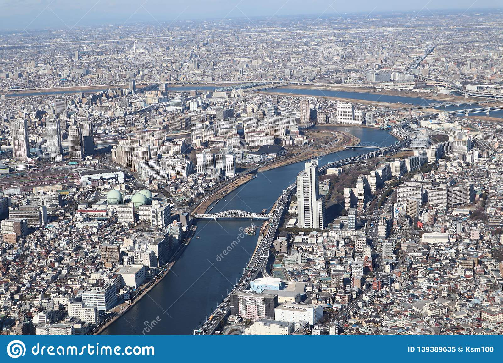 Tokyo city view from Skytree