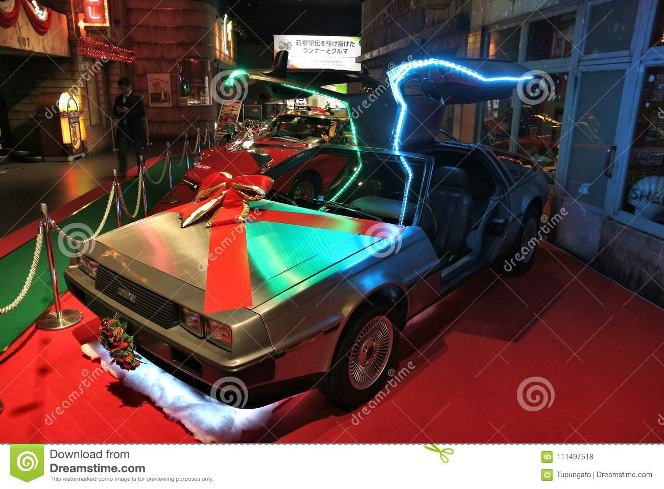 DMC Delorean editorial stock photo  Image of modern - 111497518