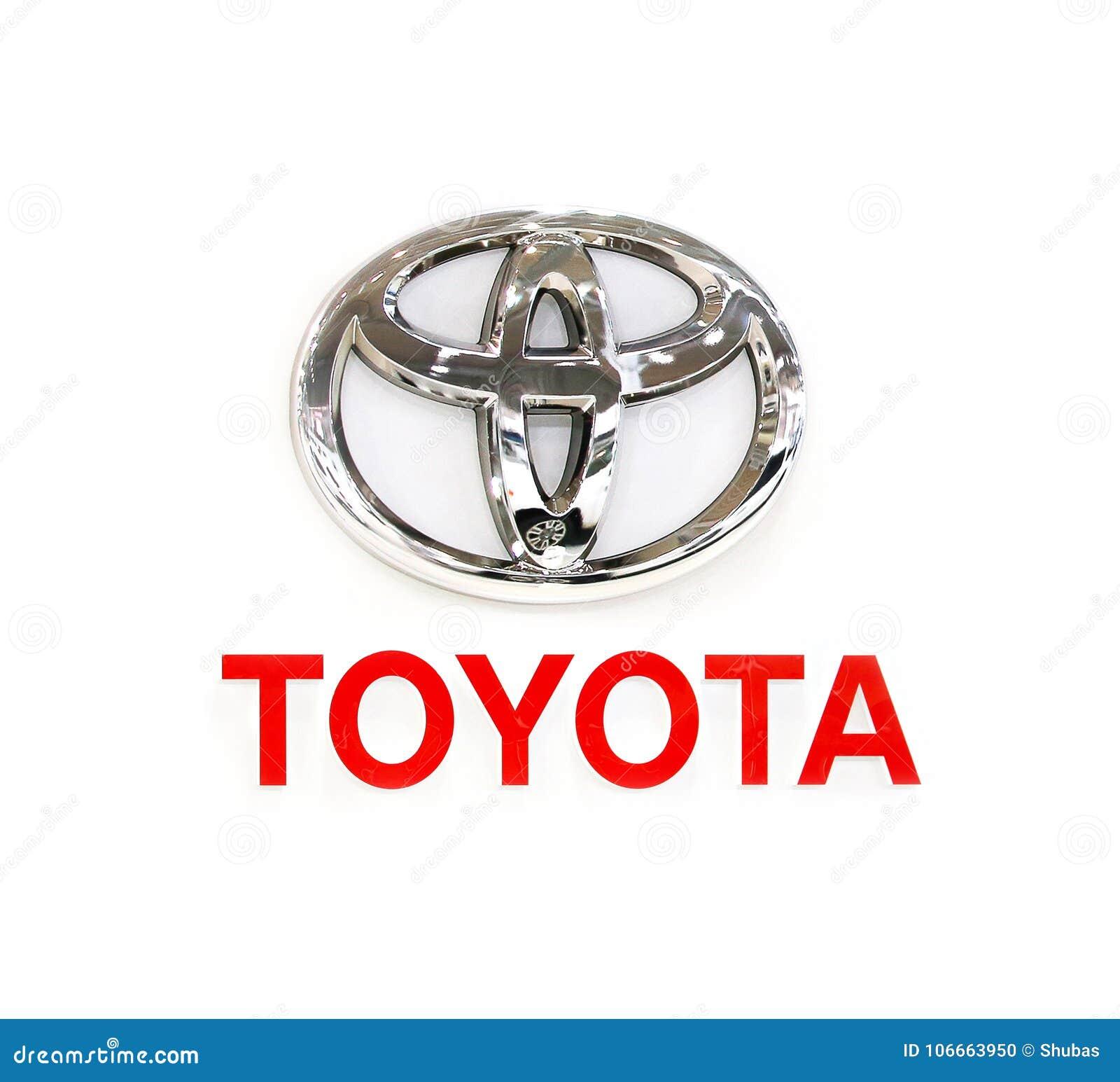 TOKYO, JAPAN - JULI, 2017: TOYOTA-embleem, motorshow Toyota