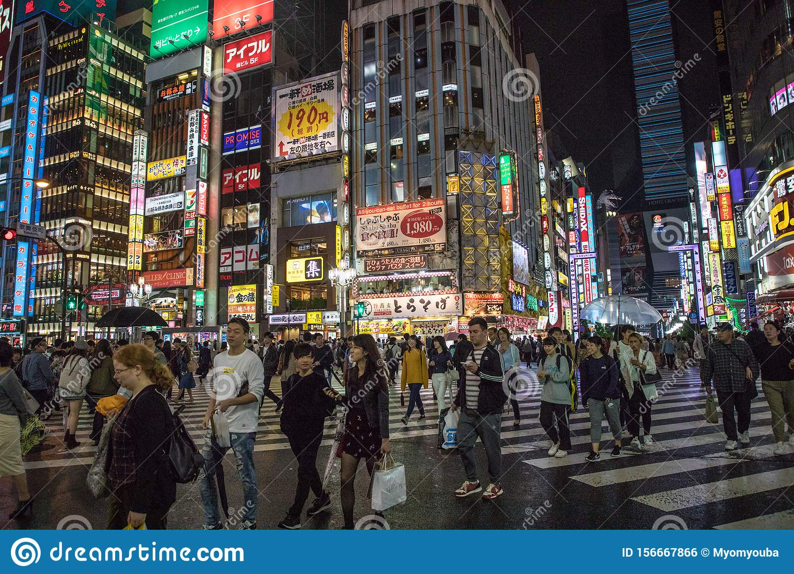 Japanese Street Photography Shibuya And Shinjuku Night Life People Are Walking Beside The Buildings Editorial Photo Image Of Tokyojapan Street 156667866