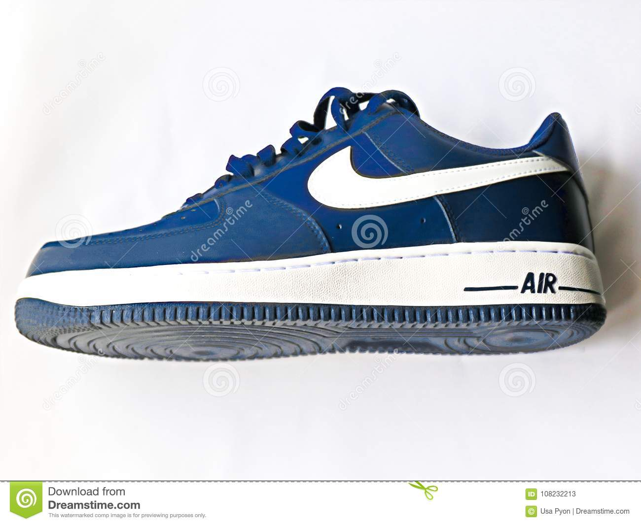 Nike Air Force 1 `07. editorial stock photo. Image of 07nike