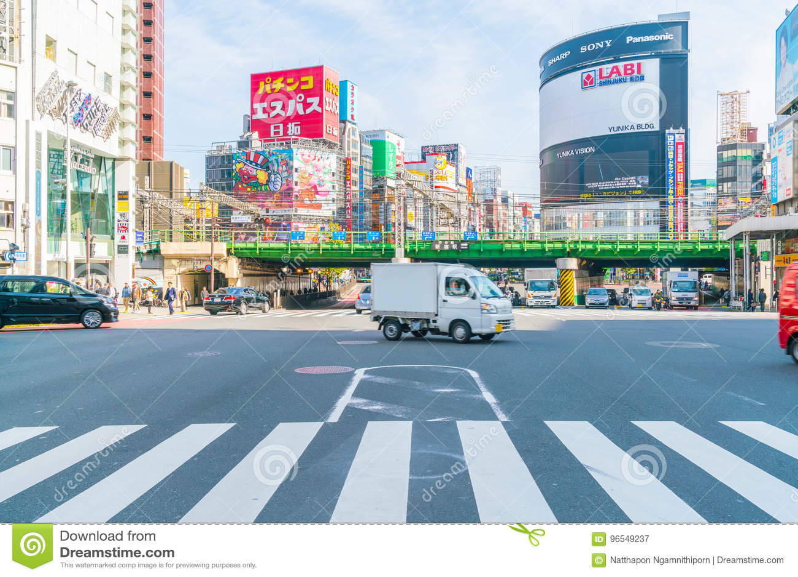 TOKYO , JAPAN - 2016 Nov 17 : Shinjuku is one of Tokyo s busine