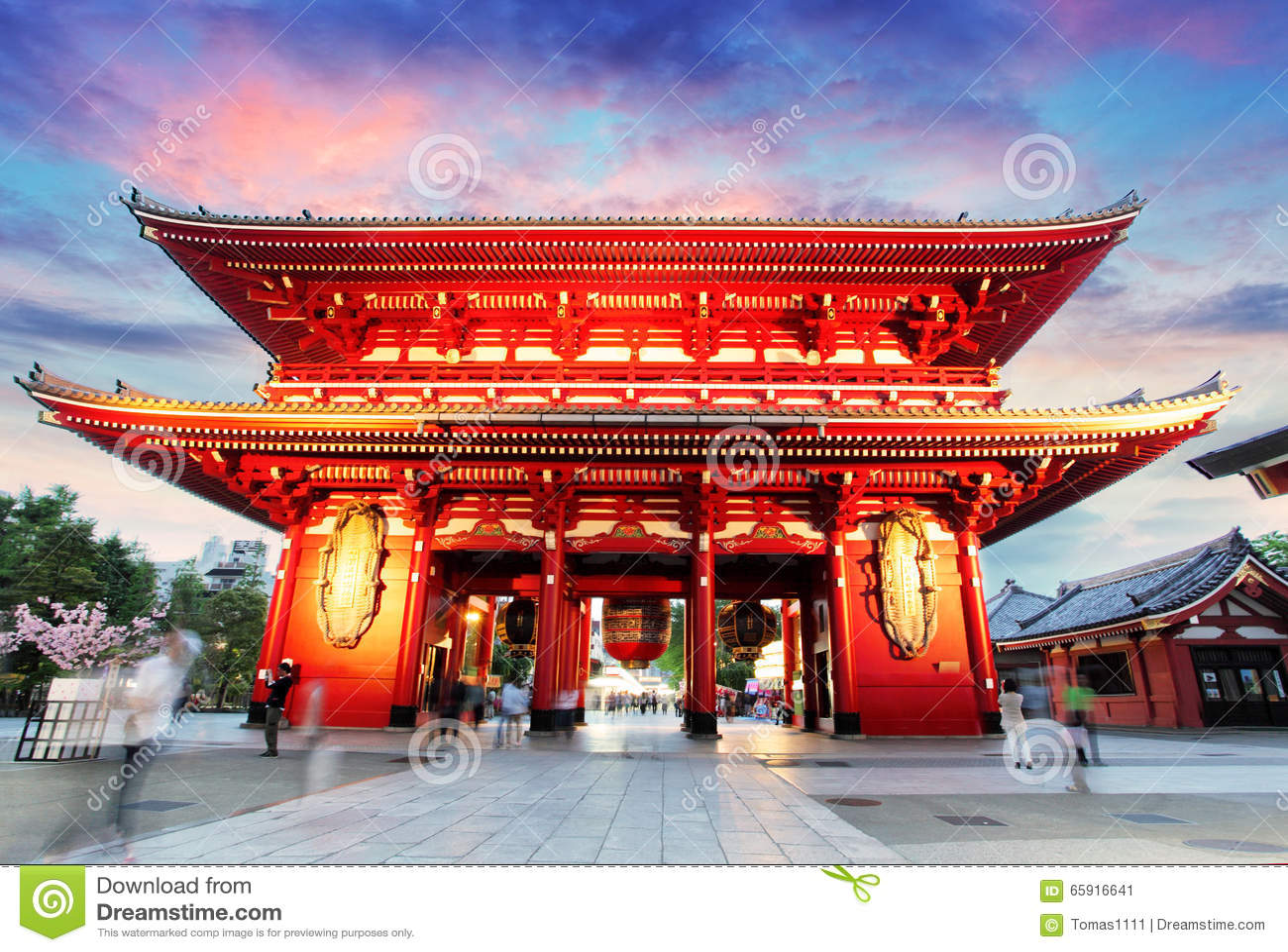 Tokyo - le Japon, temple d Asakusa
