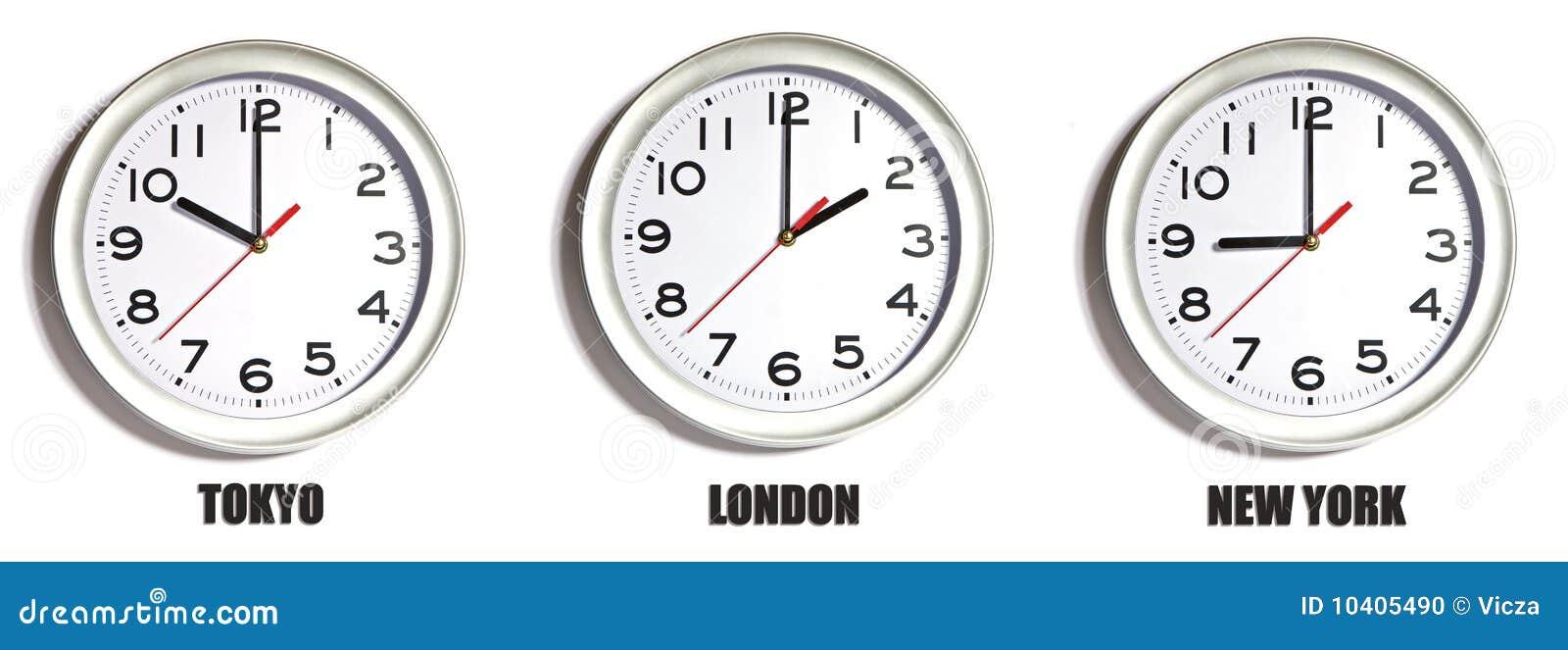 41e4444c136 Tokyo London New York stock photo. Image of clock