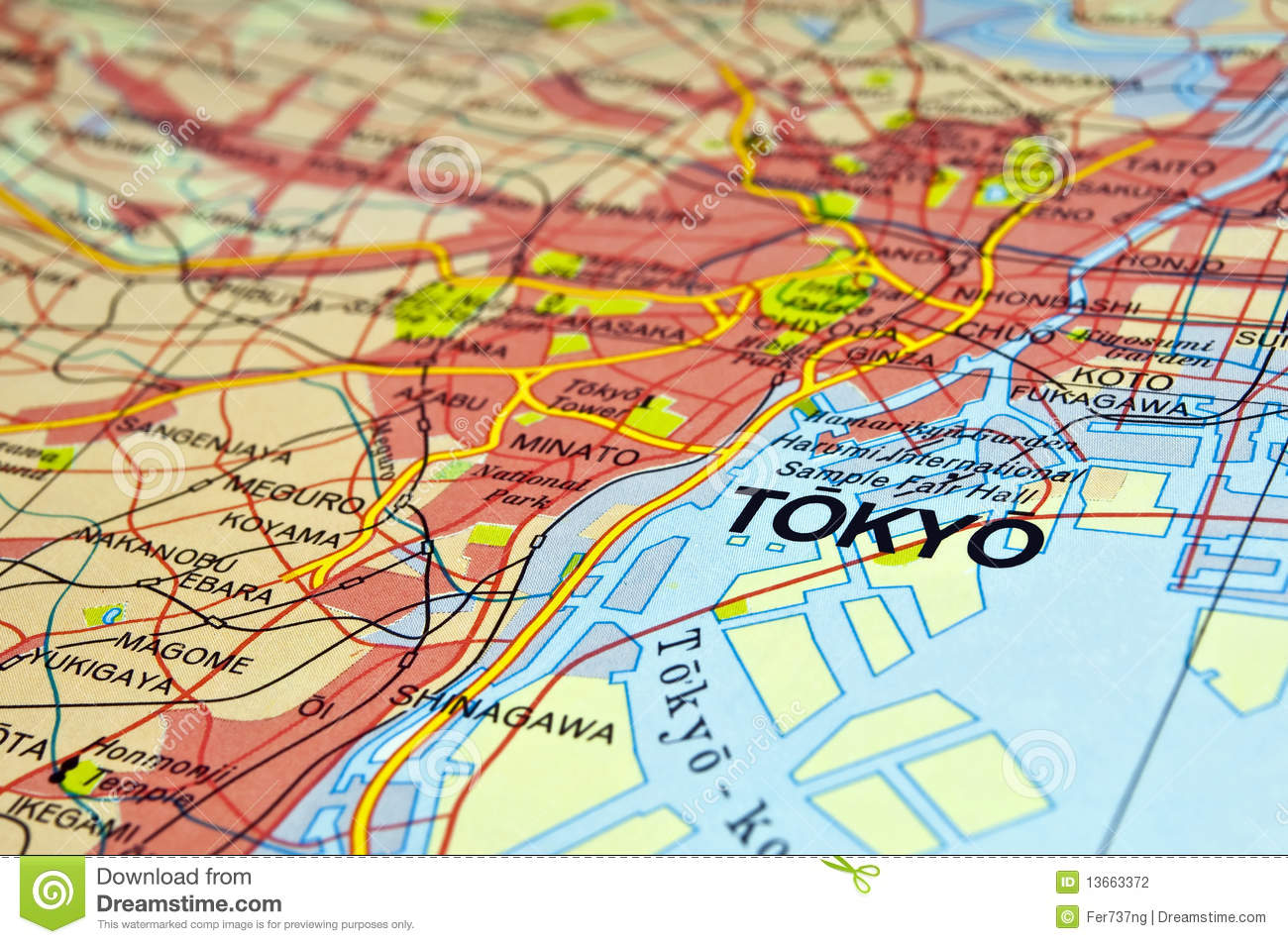 Tokyo map stock photo image of direction road discover 13663372 tokyo map gumiabroncs Choice Image