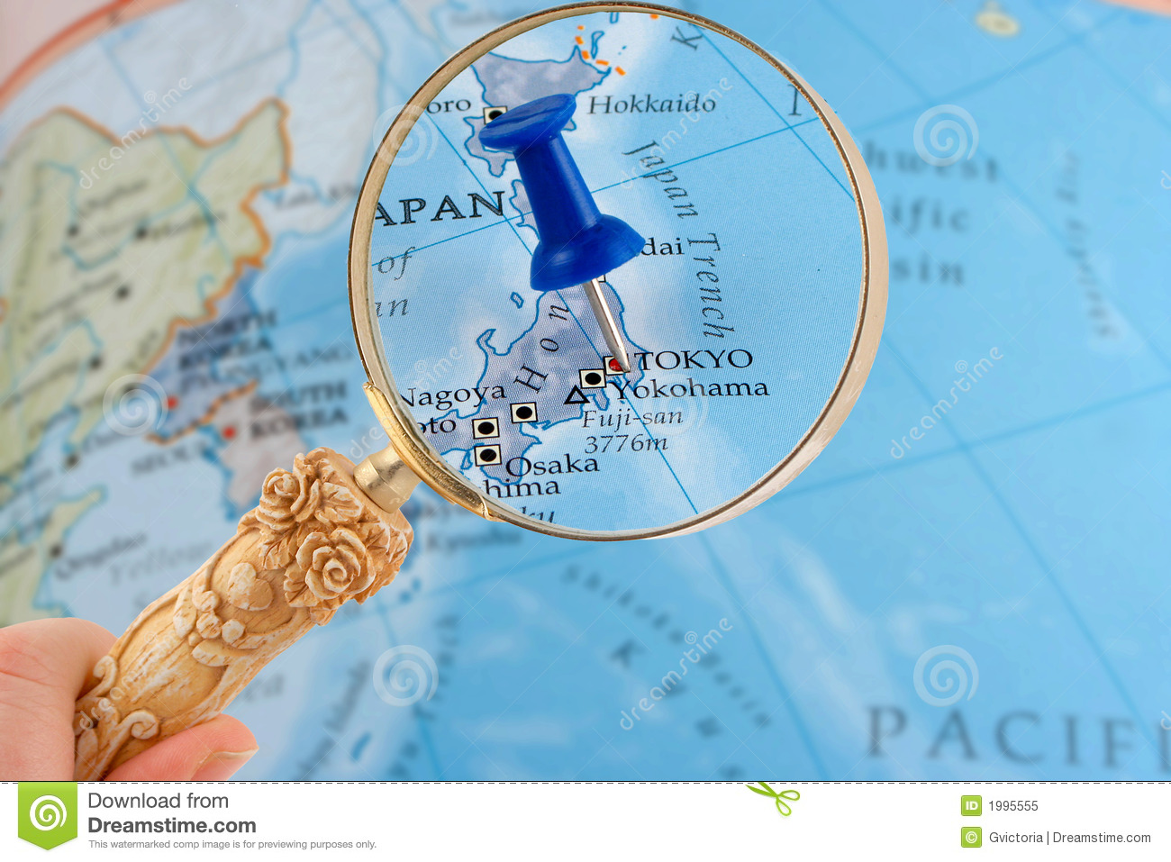 Tokyo map tack stock image. Image of glass, find, loops - 1995555